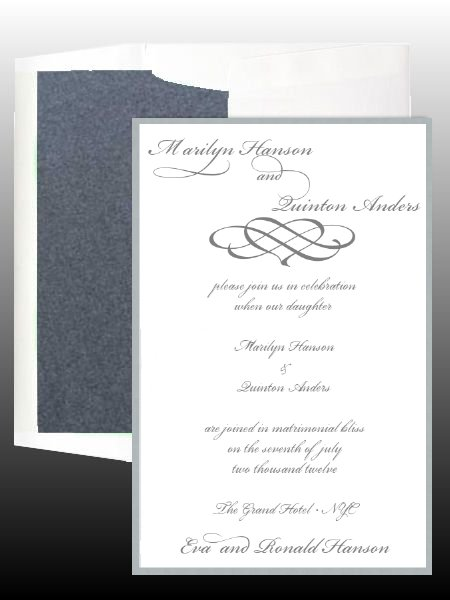 Embellishments Wedding Invitation